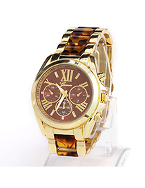 High-quality Leopard Color Roman Numerals Pattern Simple Design