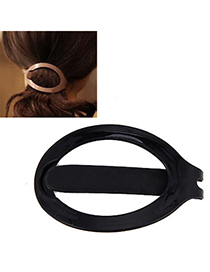 Pliable Black Hairdisk Shape Simple Design