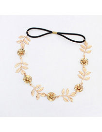 Premier Gold Color Flower Leaf Shape Decorated Simple Design