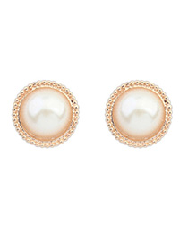 Timeless White Candy Color Round Shape Simple Design Alloy Stud Earrings