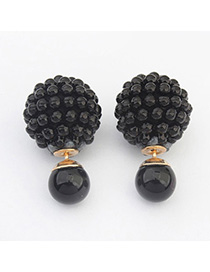 Formal Black Candy Color Round Shape Simple Design