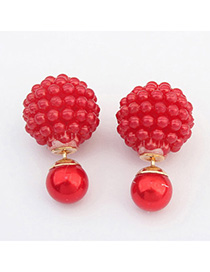 Handcrafte Red Candy Color Round Shape Simple Design
