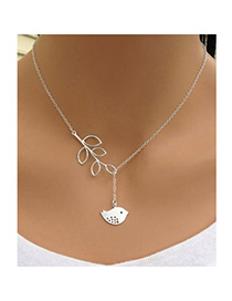 Hot Silver Color Bird Leaf Shape Decorated Simple Design