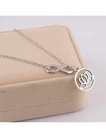 Homemade Silver Color Flower Decorated Simple Design Alloy Chains