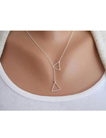 2013 Silver Color Triangle Shape Decorated Simple Design Alloy Chains