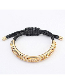 Health Black Metal Decorated Simple Design Alloy Korean Fashion Bracelet