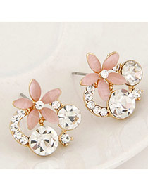 Boutique Pink Diamond Decorated Flower Design