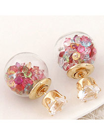 Brilliant Multicolor Diamond Decorated Round Shape Design