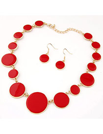 Joker Red Gemstone Decorated Round Shape Design