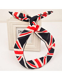 Fine Black & Red Flag Pattern Simple Design Fabric Hair band hair hoop