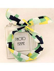 Classy Green & Yellow Mosaic Pattern Simple Design  Fabric Hair band hair hoop