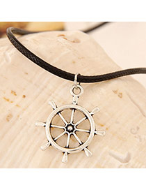 Classic Silver Color Anchors Shape Pendant Decorated Simple Design