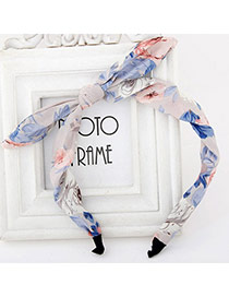 Fresh Pink Flower Pattern Simple Design  Fabric Hair band hair hoop