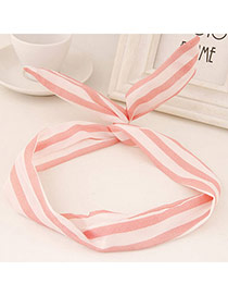 Sweet Pink Stripe Pattern Simple Design Fabric Hair band hair hoop