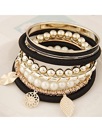 Fashion Black Multielement Pendant Decorated Multilayer Design Alloy