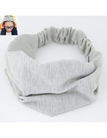 Casual Light Gray Pure Color Wide Simple Design  Fabric Hair band hair hoop