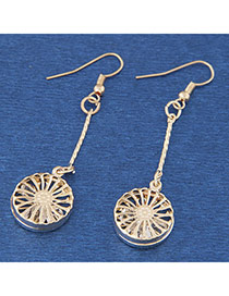 Fashion Silver Color Flower Pattern Hollow Out Design  Alloy Korean Earrings
