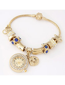 Trendy Blue Starfish Shape Decorated Multielement Design Alloy Ladies Watches