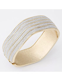 Exaggerated Gold Color Geometrical Shape Simple Design  Alloy Fashion Bangles
