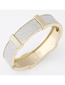Exaggerated Gold Color Round Shape Simple Design  Alloy Fashion Bangles