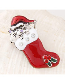 Sweet Red Animal Decorated Boots Shape Design