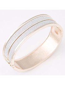 Personality Rose Gold Round Shape Simple Design  Alloy Fashion Bangles