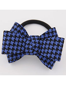 Sweet Dark Blue Big Bowknot Decorated Simple Design Rubber Hair band hair hoop