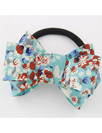 Sweet Light Blue Big Bowknot Decorated Simple Design Rubber Hair band hair hoop