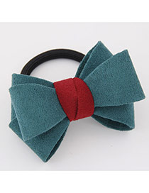 Sweet Dark Green Big Bowknot Decorated Simple Design Rubber Hair band hair hoop