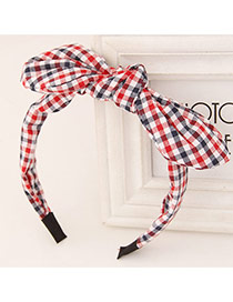 Sweet Red+white Bowknot Decorated Simple Design Fabric Hair band hair hoop