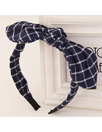 Sweet Blue+white Bowknot Decorated Simple Design  Fabric Hair band hair hoop