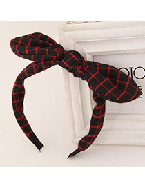 Sweet Black+red Bowknot Decorated Simple Design  Fabric Hair band hair hoop