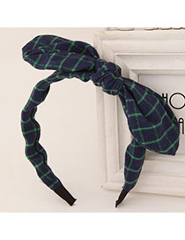 Sweet Green+blue Bowknot Decorated Simple Design  Fabric Hair band hair hoop