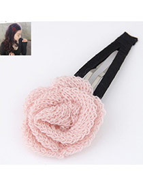 Elegant Pink Rose Flower Shape Decorated Simple Design Alloy Hair clip hair claw