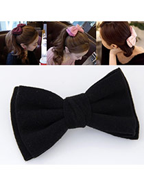 Sweet Black Pure Color Bowknot Shape Design Alloy Hair clip hair claw