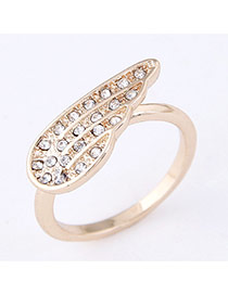 Sweet Gold Color Wing Shape Decorated Simple Design  Alloy Korean Rings