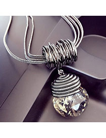Exquisite Silver Color Bulb Shape Pendant Decorated Simple Design