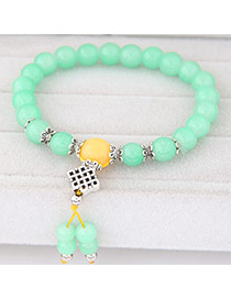Sweet Green Beads Decorated Simple Design  Rosin Korean Fashion Bracelet