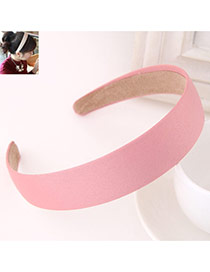Fashion Pink Pure Color Simple Design  Fabric Hair band hair hoop