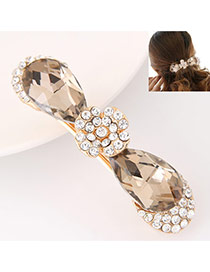 Fashion Gold Color Diamond Decorated Bowknot Shape Design Alloy Hair band hair hoop