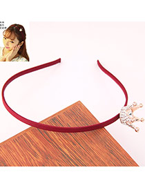 Fashion Claret-red Crown Decorated Simple Design Alloy Hair band hair hoop