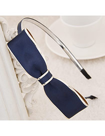 Exquisite Navy Blue Big Bowknot Decorated Simple Design  Alloy Hair band hair hoop