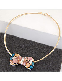 Fashion Multicolor Bowknot Pendant Decorated Simple Design