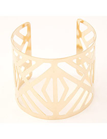 Trending Gold Color Square Shape Decorated Hollow Out Opening Design
