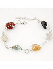 Personality Multicolor Irregular Stone Decorated Hollow Out Design