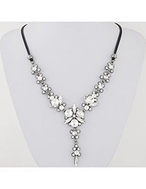 Sweet White Diamond Decorated Double Layer Design