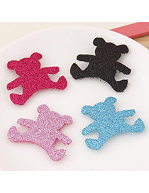 Sweet Random Color Pure Color Bear Shape Design(4pcs)