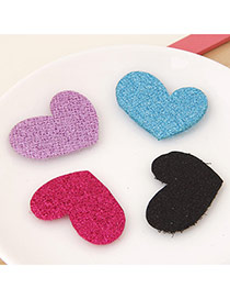 Sweet Random Color Pure Color Heart Shape Design(4pcs)