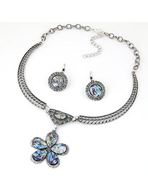 Fashion Silver Color Flower Pendant Decorated Hollow Out Design