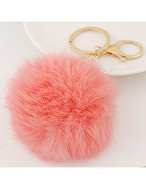 Fashion Watermelon Red Fur Ball Pendant Decorated Simple Design